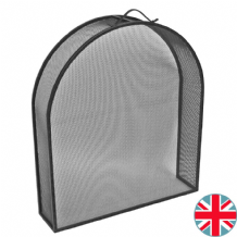 Classic Inset Arch Fireguard - Black